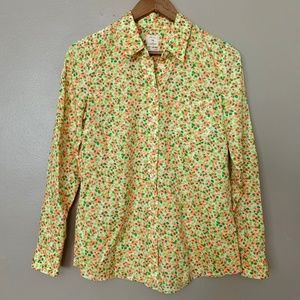 GAP Fitted Boyfriend Bright Floral Button Up XS